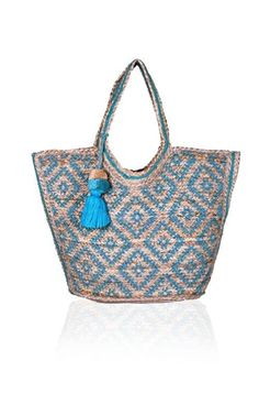 Aztec simple tote with gray interior
