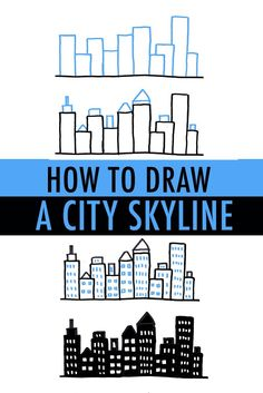 Sketch Book Draw a city skyline - It may look daunting, but cityscapes are actually quite easy to draw! Find out how to draw a city skyline with simple shapes and forms 3 ways on Craftsy! Doodle Drawings, Easy Drawings, Doodle Art, Drawing Tips, Drawing Sketches, City Drawing, Drawing Ideas, Drawing Lessons, Drawing Poses