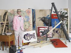 illustrator / prop stylist gary card channeling david hockney, by william selden, styled by nicola formichetti, for another man magazine Estilo Nerd, Artist Management, David Hockney, Male Magazine, Another Man, Art For Art Sake, Art Studios, Art Direction, Terrier