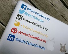 https://social-media-strategy-template.blogspot.com/ LINKEDIN Social Media Username Decal by WhiteTailedGrizzly