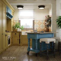 Сочная кухня в деревянном доме #дизайнкухни #кухня #интерьеркухни #деревянныйдом #домизбрусадизайн