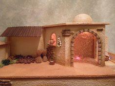PORTAL DE BELEN RECICLADO Christmas Nativity Scene, Christmas Carol, Christmas Crafts, Christmas Decorations, Handmade Crafts, Diy And Crafts, Crafts For Kids, Fontanini Nativity, Nativity Stable