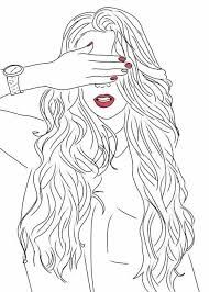 art, black and white, drawing, girl Outline Drawings, Cute Drawings, Drawing Sketches, Drawing Art, Sketching, Tumblr Girl Drawing, Tumblr Drawings, Tumblr Outline, Image Clipart