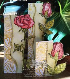 Leigh S-B Designs: Finale of our Lost Coast Designs New Stamp Showcase - Watercoloured Floral cards