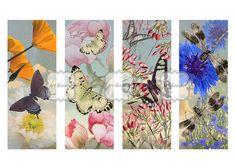#printableimages #digitalcollagesheet #digitalpaper Wild Flowers Digital Images Printable Bookmarks by ArtRooster