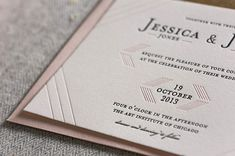 Modern Linear Letterpress Wedding Invitations. #weddingmonth #typography #letterpress