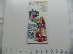 RAND McNALLY KENTUCKY TENNESSEE STATE TRAVEL MAP LATE 70s OR EARLY 80s