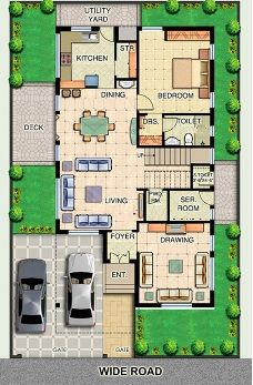 Modern small house plans offer a wide range of floor plan options and size come from 500 sq ft to 1000 sq ft. Best small homes designs are more affordable and easier to build, clean, and maintain. 2bhk House Plan, Model House Plan, Simple House Plans, House Layout Plans, Duplex House Plans, Dream House Plans, Luxury House Plans, House Layouts, Bungalow Haus Design