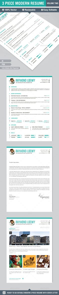 Resume Template, Cv template and Fonts