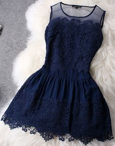 Image of Retro Embroidery Beads Lace Dress
