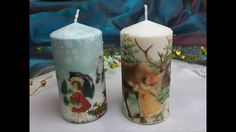 Candele  decorate con trasferimento di immagine,Tutorial: Decorate candl...