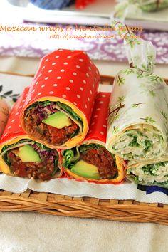 メキシカンラップサンド&ささみと水菜の明太子ラップサンド