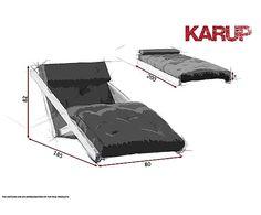 Lounge chair convertible en cama futón Figo - blanco y natural