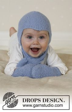 Baby Knitting Patterns Mittens Ravelry: Baby Aviator Hat, scarf and mittens pattern by DROPS design Baby Knitting Patterns, Knitting For Kids, Free Knitting, Drops Design, The Mitten, Crochet Baby, Knit Crochet, Drops Baby, Aviator Hat
