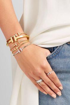 Tiffany & Co. - T Wire Narrow 18-karat Rose Gold Bracelet - M