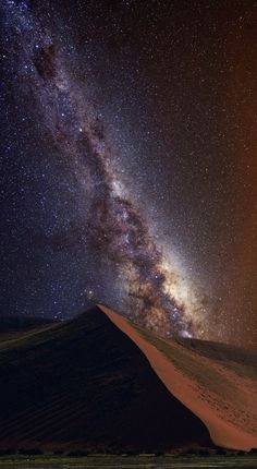 Always Above You, the Milky Way blazes above the  dunes in Namib-Naukluft National Park