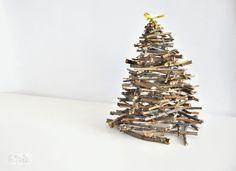 Eglutė iš medžio šakų | Šventės idėja Christmas tree DIY
