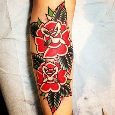 American Traditional Rose Tattoo | American rose