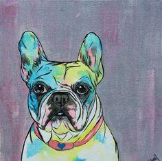 french bulldog print bulldog art frenchie by ShannySchmidtFineArt