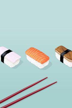 What sushi so bad! Drawing Wallpaper, Kawaii Wallpaper, Tumblr Wallpaper, Wallpaper Backgrounds, Sushi Drawing, Food Drawing, Best Iphone Wallpapers, Cute Wallpapers, Sushi Cartoon