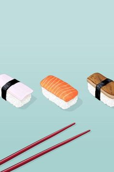 ★ #illustration #sushi ★