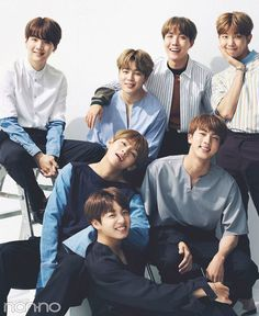 BTS - 7 precious smiles.  ♡ Like True Family and together Family is a great power! ♡