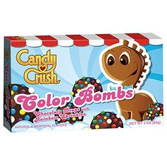 Candy Crush Color Bombs Chocolate Drops with Rainbow Sprinkles 3 oz. Candy Crush http://www.amazon.com/dp/B00HZ0GVBA/ref=cm_sw_r_pi_dp_GFqGub144D3DT