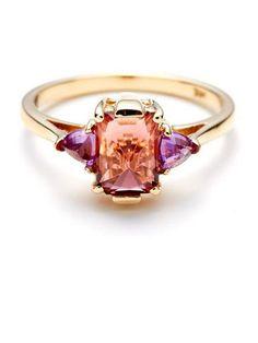 Anna Sheffield Pink Tourmaline Bea Ring: $1,276; roseark.com #weddingring #nontraditionalbride #engagementring