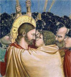 Giotto - Il bacio di Giuda - Cappella degli Scrovegni - 1303 - 1305 - Padova