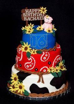 Western Sweet Sixteen cake #sweet16 #cake western