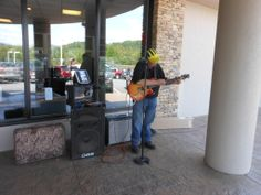 Live music at our 2014 Customer Appreciation Day. It may not look like much, but this guy is super-talented!
