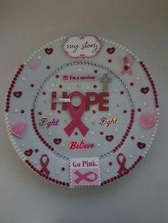 Breast Cancer Awareness keepsake plates