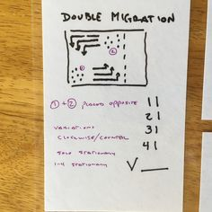 71a9790223e3 DOUBLE MIGRATION Same as MIGRATION except there is two groups that migrate  separately. Placement of