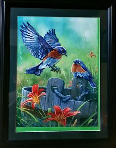 Diamond Payinting | Etsy Gem Crafts, Robin Bird, 5d Diamond Painting, Paint Finishes, One Design, Gems, Birds, Unique Jewelry, Handmade Gifts