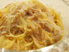 なめ茸の冷製パスタ ナツメグ風味