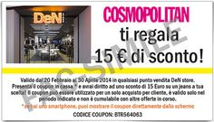 Buono sconto 15 euro per acquisto jeans DeN - http://www.omaggiomania.com/concorsi-a-premi/buono-sconto-15-euro-per-acquisto-jeans-den/