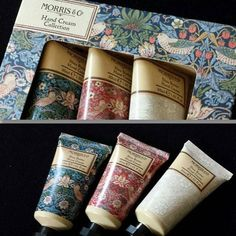 The quintessentially Old English @_heathcoteandivory Morris & Co Hand Cream Trio Set  Beautifully packaged and a perfect gift   #morrisandco #English #country #prints #patterns #fruit #gift #creams #cosmetics #beauty #like4like #follow4follow #beautybloggers #heathcoteandivory