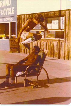 Mike Kolar jumping Cosmo - Hermosa Beach - Circa 1975