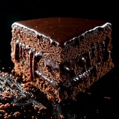 Very Moist Chocolate Layer Cake. #food #recipes #chocolate #cake #dessert