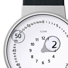 Magnifying glass watch, zooms in on the time!