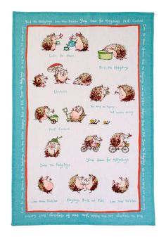Take a look at this Hedgehogs Linen Tea Towel today!