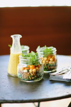 Lentil and Chickpea Layered Salad