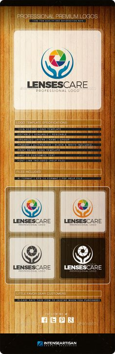 LENSES CARE LOGO TEMPLATE This logo is perfect and suitable to the following:    Camera  Lens Repair  Photography  Camera Repai