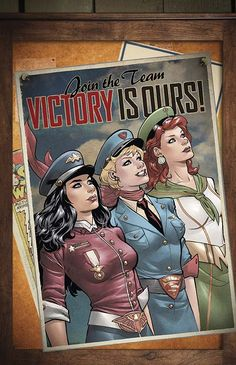 """Wonder Woman Supergirl and Mera"" - Justice League - Bombshells variant cover by Emanuela Lupacchino - Visit to grab an amazing super hero shirt now on s Arte Dc Comics, Dc Comics Art, Marvel Comics, Marvel Dc, Cosmic Comics, Comics Girls, Comic Book Characters, Comic Character, Comic Books Art"