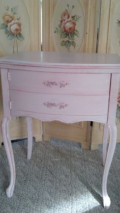 Shabby Pink Sewing Cabinet Shabby Chic by ShabbyVintageShop Painting Patio Furniture, Vintage Patio Furniture, Outdoor Furniture Sofa, Gray Painted Furniture, Painted Bedroom Furniture, Loft Furniture, Vintage Industrial Furniture, Refurbished Furniture, Colorful Furniture
