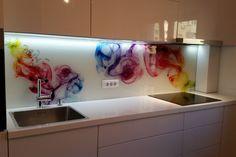 Placare cu sticla printata - Geamuri si oglinzi de la OpriCristal Glass Film, Santorini, Bathtub, House, Standing Bath, Bath Tub, Haus, Bathtubs, Home