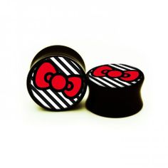 Fake Ear Gauge   Hello Kitty Bow Ear Gauges Plugs Regular Price: $19.99 Special Price ...