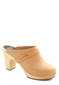 Alps and About Heel in Natural by Swedish Hasbeens - Mid, Leather, Tan, Solid, Folk Art, Best, Platform, Casual, Eco-Friendly, Variation