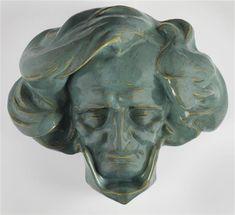 Portrait of  Hector Berlioz (1803-1869) by René RINGEL D'ILLZACH René (1847-1916), made by Müller factory, c.1900, Paris, Orsay museum Hector Berlioz, Schmidt, Sculptures, Lion Sculpture, Grand Palais, Paris, Photos, Images, Statue