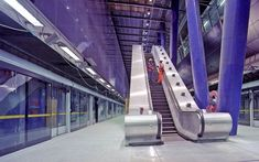 The most impressive underground railway stations in Europe - Telegraph - North Greenwich station in London  Picture: qaphotos.com / Alamy